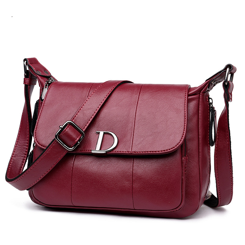 Luxury Leather Shoulder Crossbody Bag – Vibe Handbags d393d17635e97